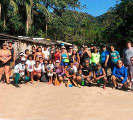 Canoa havaiana tribo indigena