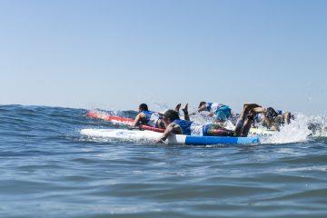 prova de paddleboard no mundial da isa