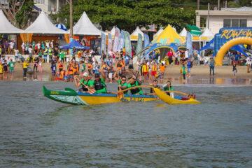 Canoa havaiana no row to win