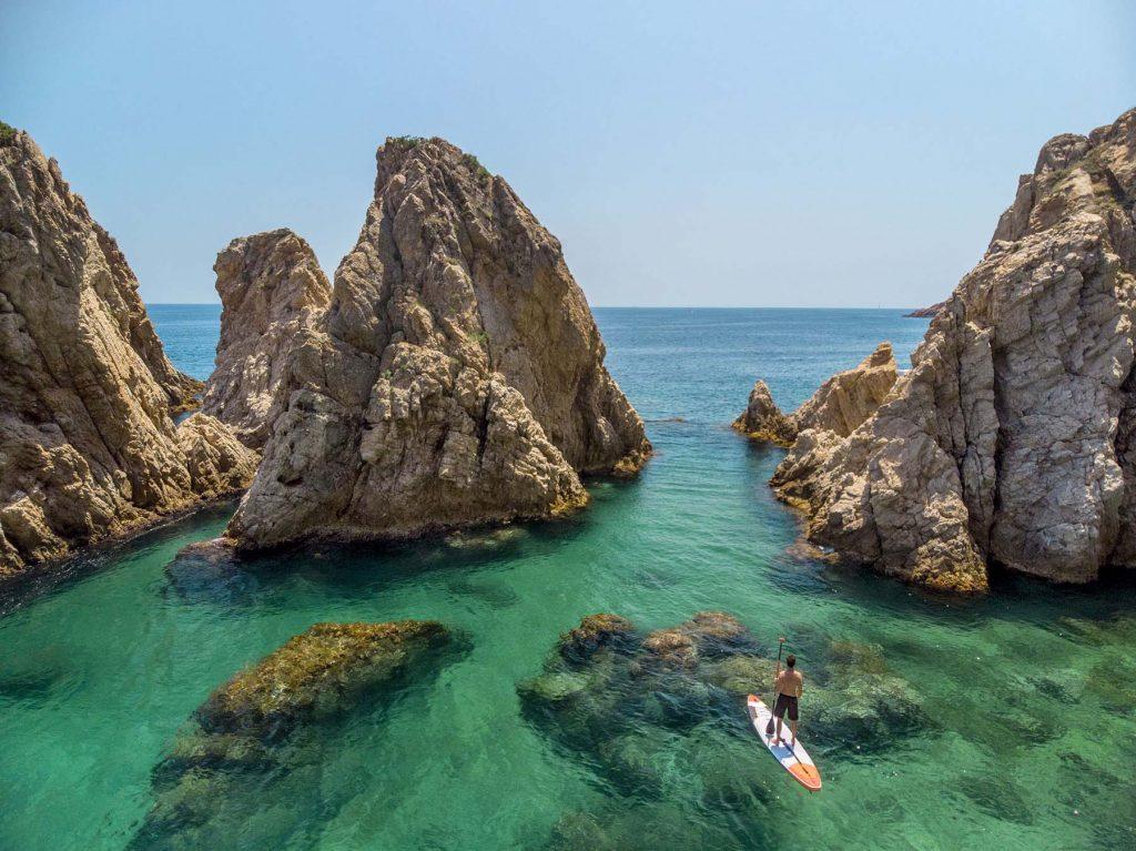 Stand up paddle na Costa Brava espanhola