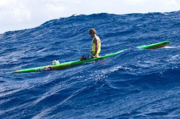 Jamie Mitchell de paddleboard