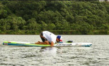Rogério Melo Martins treinando Paddleboard para o Aloha Spirit Festival