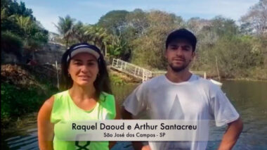 Raquel Daoud e Tuca Santacreu. Foto: Reprodução