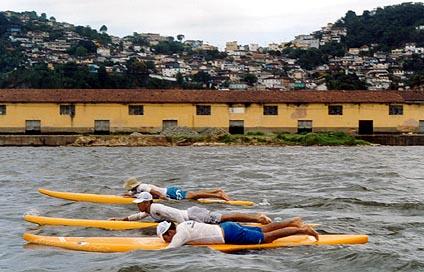 remadores de Prone Paddleboard em Santos