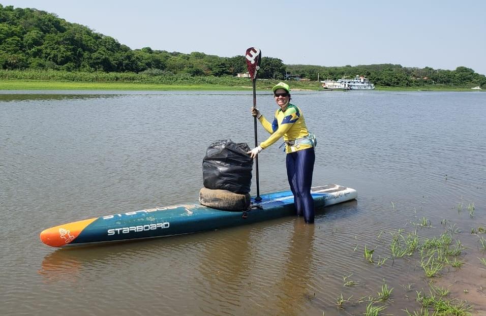 ação de limpeza no rio Paraguai