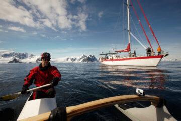 Canoa polinésia na Antártica