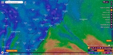 Previsão de swell e ventos