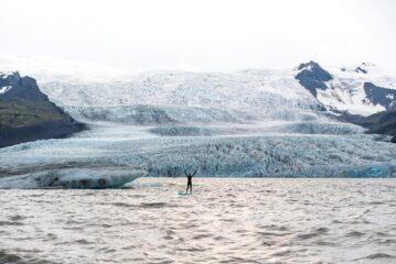 stand up paddle na Islândia