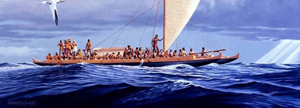 origem das rotas de colonização da Polinésia
